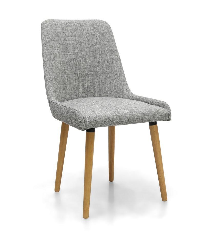Capri Grey Weave Fabric Modern Dining Chair