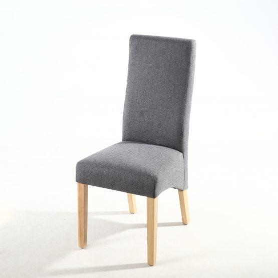 Buxton Steel Grey Fabric Dining Chair  Baxter Fabric