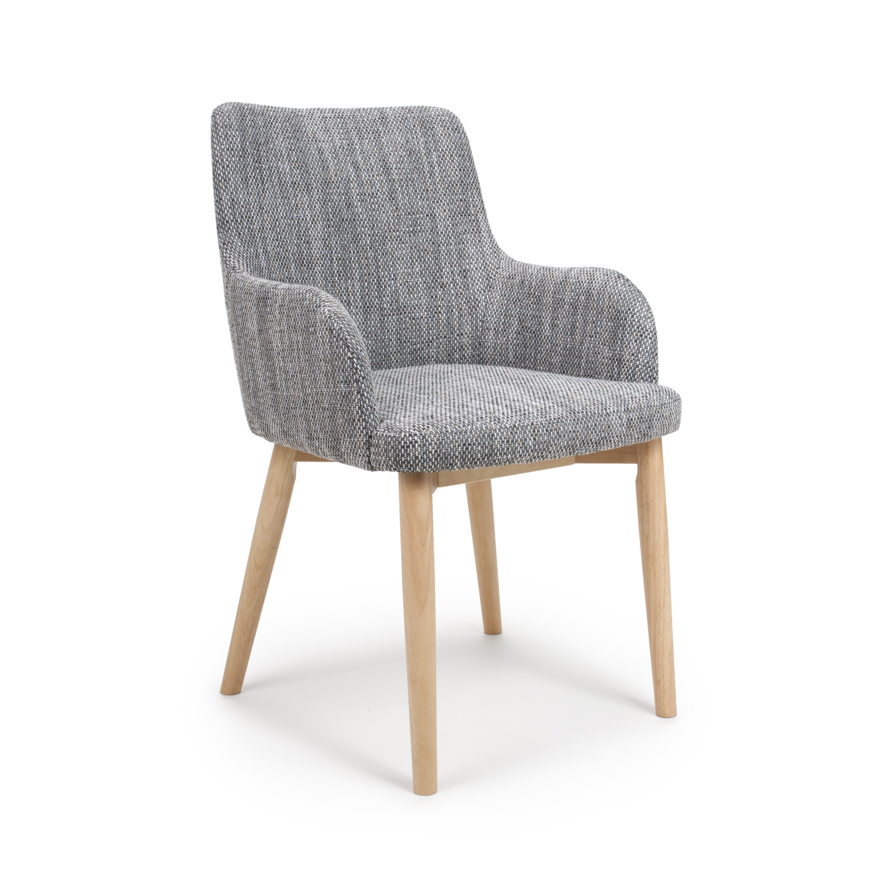 Sidcup Grey Tweed Fabric Modern Dining Chairs  Grey