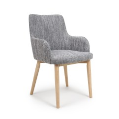 Modern Grey Dining Chairs Uk Father Christmas Chair Covers Sidcup Tweed Fabric