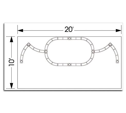 10x20 Pictor Truss TradeShow Display System