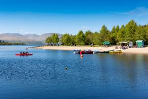 Kayaks at Loch Lomond Shores