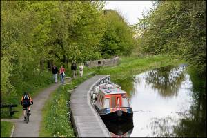 Barges on the Union Canal