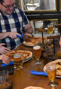 Cold Town Brewery pizza and beer