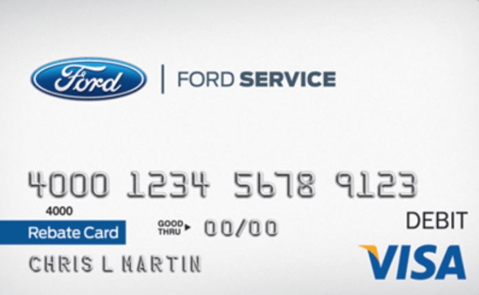 Bank Of America Ford Service Rebates  – Activate or Login Ford Service Rebate Card