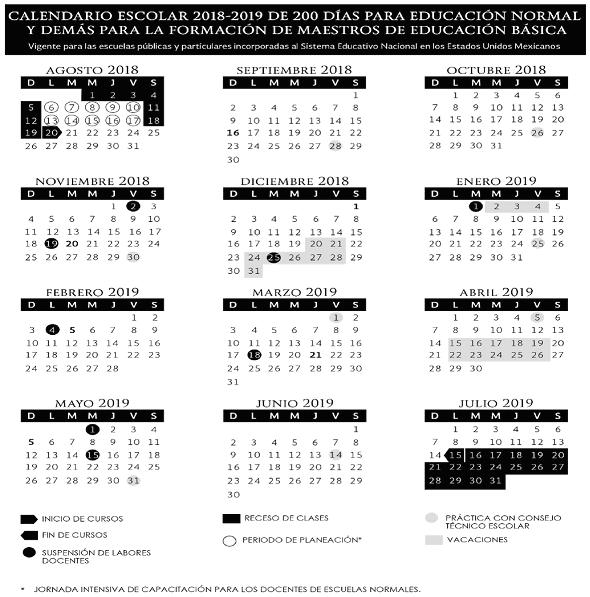 Calendario Escolar 2020 Colombia.Cuando Inicia Y Cuando Termina El Ciclo Escolar 2018 2019