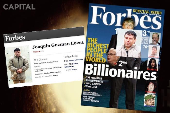 El día que El Chapo salió en la revista Forbes