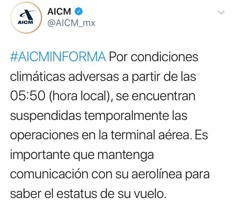 aeropuerto cerrado