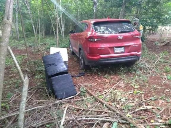 SEDENA aseguró 210 kilos de cocaína y un vehículo; posiblemente relacionado con Narco-Avión en Quintana Roo