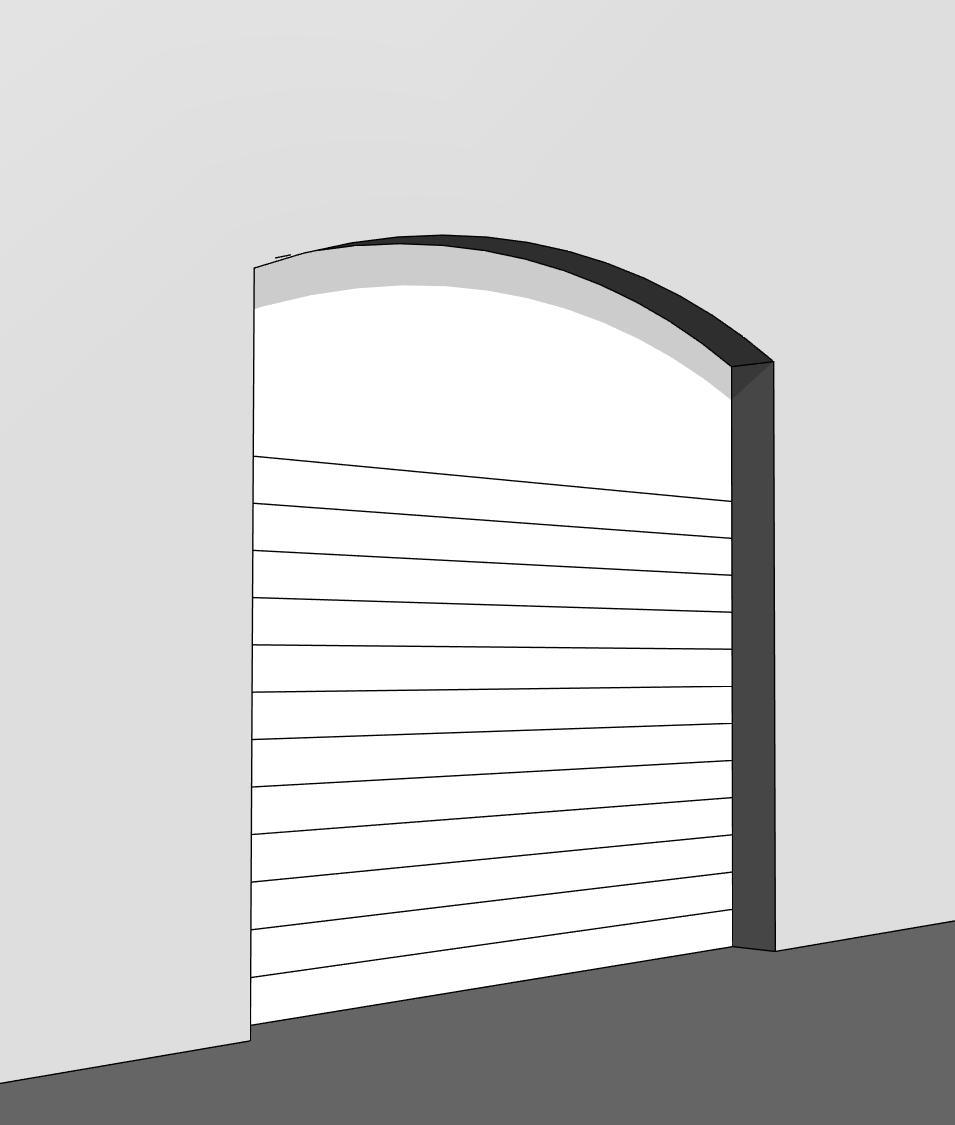 Arched Overhead Garage Door كابيتالز