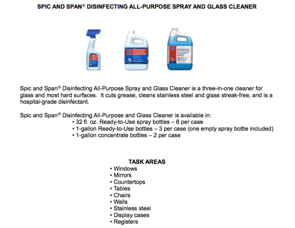 Procter & Gamble Spic and Span All Purpose Spray & Glass