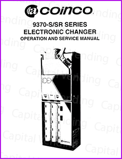 Coinco 9370-S, SR Series Electronic Changer Manual