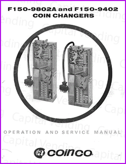 Coinco F150-9802A and F150-9402 Coin Changer Manual