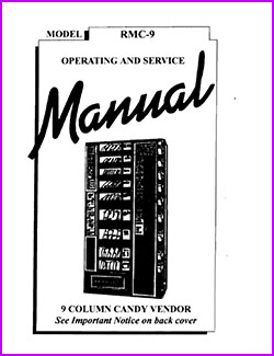 9 Column Candy Vendor RMC-9 Operating and Service Manual
