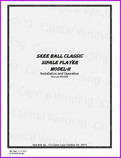 SkeeBall Model H Manual (15 pages)