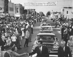 Halleck campaigns with Richard Nixon