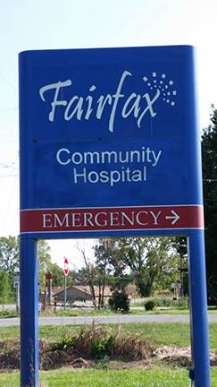 FairfaxWEBCommunityHospital SignWeb 1