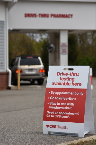 cvsA health covid 19 expanded testing drive thru test instructions sign 1