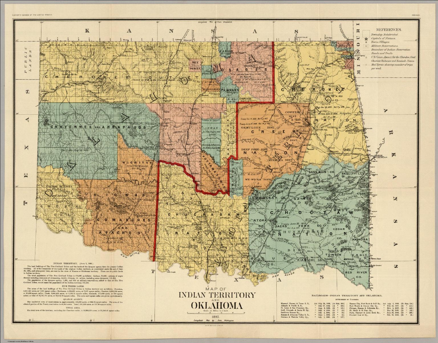 oklahoma indian territory1890 13