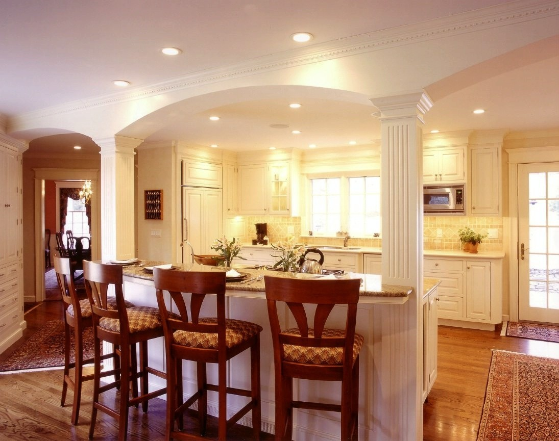 living room kitchen dining layouts mounted tv ideas for small traditional kitchens   capitol design award winning ...