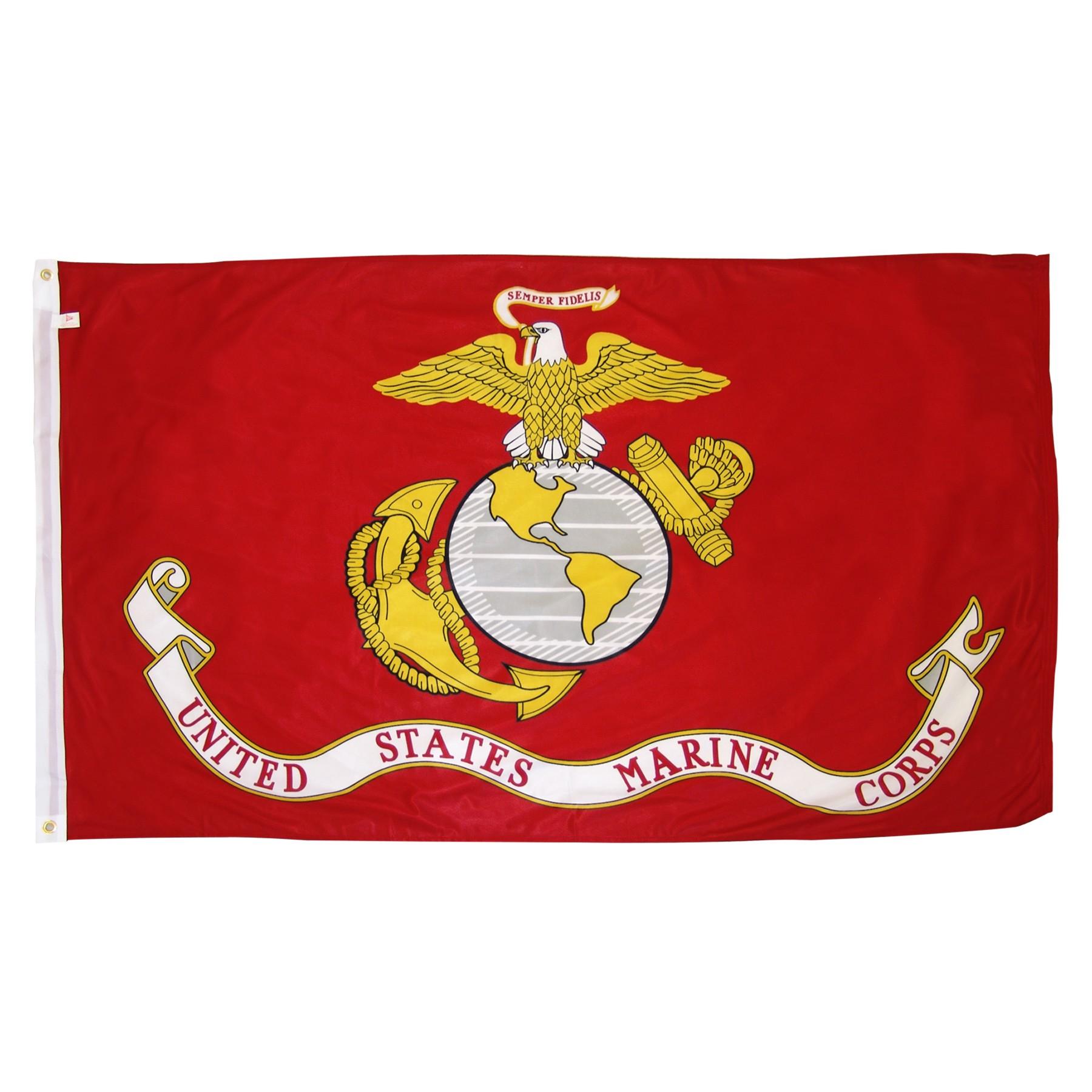 marine corps flag with