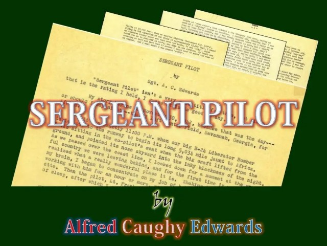 Sergeant Pilot by Alfred Caughy Edwards
