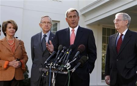Speaker of the House John Boehner speaks to the press after a bipartisan meeting with U.S. President Barack Obama to discuss the economy in the Roosevelt Room of the White House November 16, 2012. REUTERS/Larry Downing