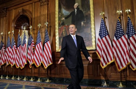 John Boehner: A controversial speaker of a divided party in the House.(AP Photo/J. Scott Applewhite)