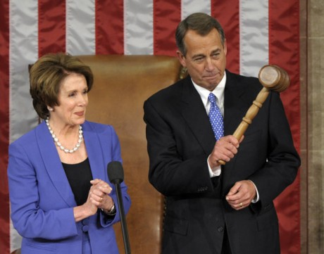 Nancy Pelosi and John Boehner: Ready to do battle (AP Photo/Susan Walsh)