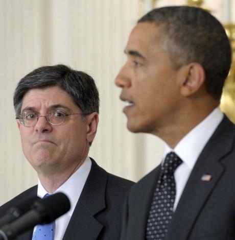 Treasury Secretary nominee Jack Lew with President Obama (AP Photo/Susan Walsh, File)