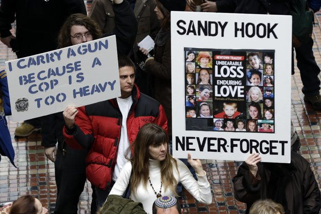 Newtown residents marching for gun control in Washington ...