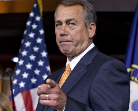 House Speaker John Boehner of Ohio gestures as he speaks to reporters, on Capitol Hill in Washington, following a closed-door meeting with President Barack Obama and House Republicans to discuss the budget. There were no breakthroughs predicted when Obama set out on his courtship of Congress. And there's no sign any have been achieved. (AP Photo/J. Scott Applewhite, File)