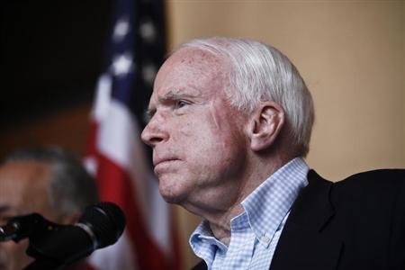 Senator John McCain (R-AZ) . REUTERS/Samantha Sais