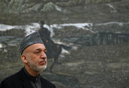Afghan President Hamid Karzai . (REUTERS/Omar Sobhani)