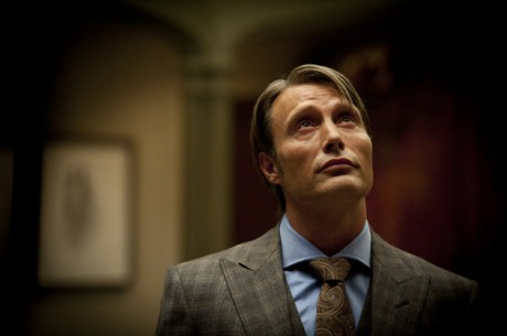 """Mads Mikkelsen as Dr. Hannibal Lecter in a scene from the TV series, """"Hannibal,"""" airing Thursdays at 10 p.m. EST on NBC. NBC says it's pulling an episode of its serial killer drama out of sensitivity to recent violence, including the Boston bombings. The episode, the fourth for the freshman series, will be replaced by another """"Hannibal"""" hour."""