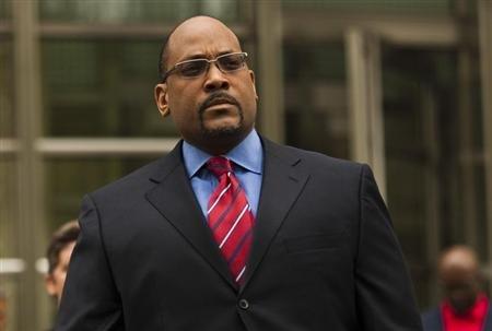 New York State Senator John Sampson leaves the Brooklyn Federal Court in Brooklyn, New York. (REUTERS/Eduardo Munoz)