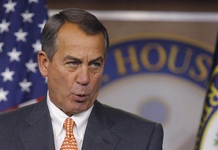 Speaker of the House John Boehner REUTERS/Gary Cameron