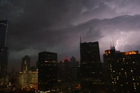 Lightning over Chicago (AP Photo/Dr. Scott M. Lieberman)