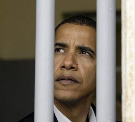 Barack Obama: Jail is where he belongs.