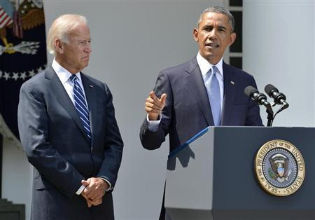 President Barack Obama and Vice President Joe Biden. (REUTERS/Mike Theiler)