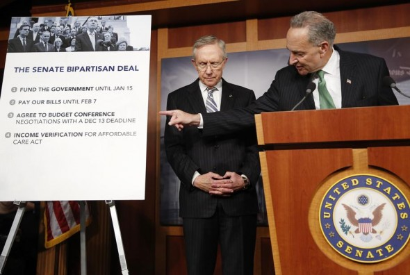 Senate Majority Leader Harry Reid and Sen. Chuck Schumer (Reuters/Jonathan Ernst)