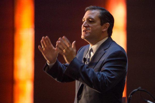 Sen. Ted Cruz on the campaign stump in Iowa (AP/Scott Morgan)