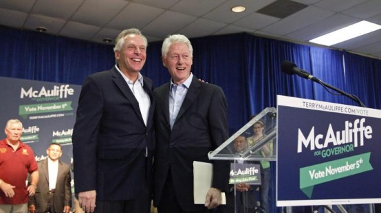 Former President Bill Clinton campaigns in Virginia for Terry McAuliffe. (Reuters/Jonathan Ernst)