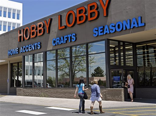 A customer at a Hobby Lobby store in Denver.   (AP Photo/Ed Andrieski, File)