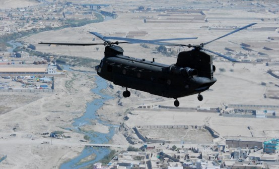 A Chinook helicopter, a product of one of the companies bypassed b the Pentagon to buy coppers from the Russians (Capt. Peter Smedberg/USCArmy)
