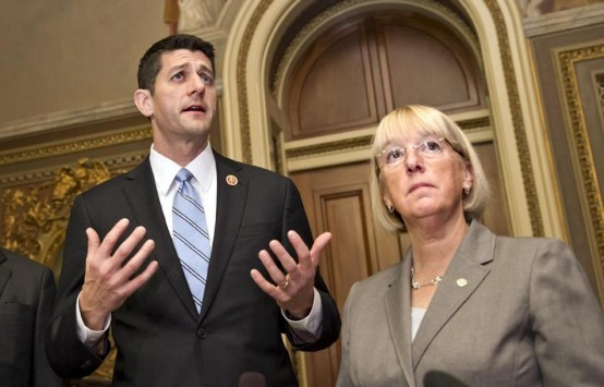 Rep. Paul Ryan and Sen. Patty Murray: Architects of two-year budget deal. (AP/Scott Applewhite)