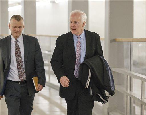 Senate Minority Whip John Cornyn, R-Texas. (AP Photo/J. Scott Applewhite)