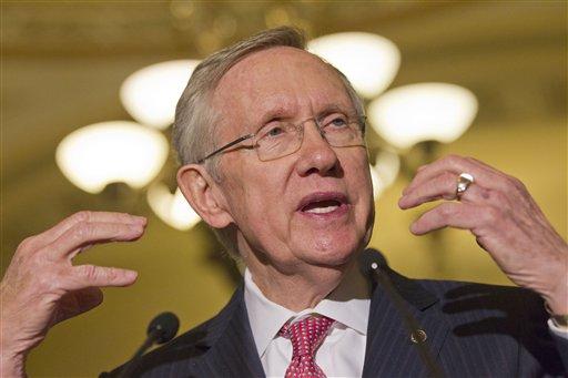 Senate majority leader Harry Reid. (AP Photo/Jacquelyn Martin)
