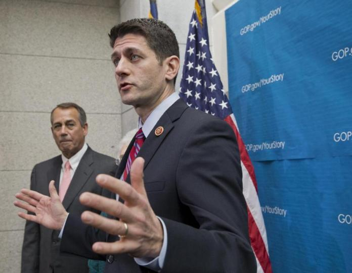 House Budget Committee Chairman Paul Ryan (right) and Speaker John Boehner. (AP/J. Scott Applewhite)
