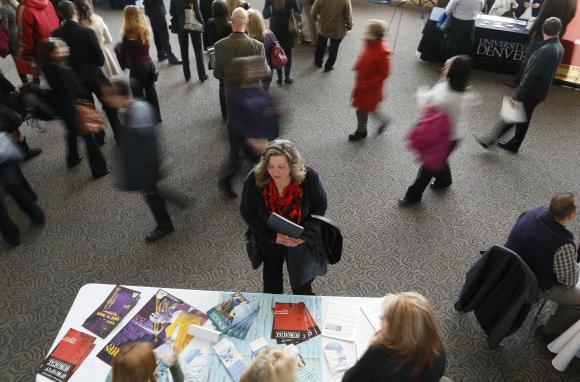 A job seeker in Colorado (REUTERS/Rick Wilking)